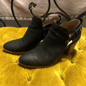 Franco Sarto block heel booties